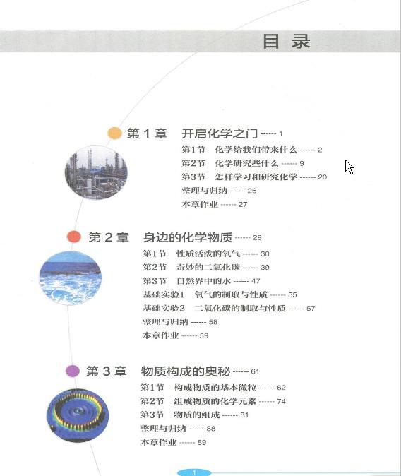 初中一年级电子课本_2012年新沪教版化学九年级上册《目录》电子课本-初中化学在线